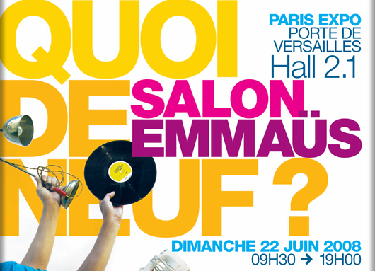 Salon emmaus juin 2008 paris en mode fashion for Salon education porte de versailles