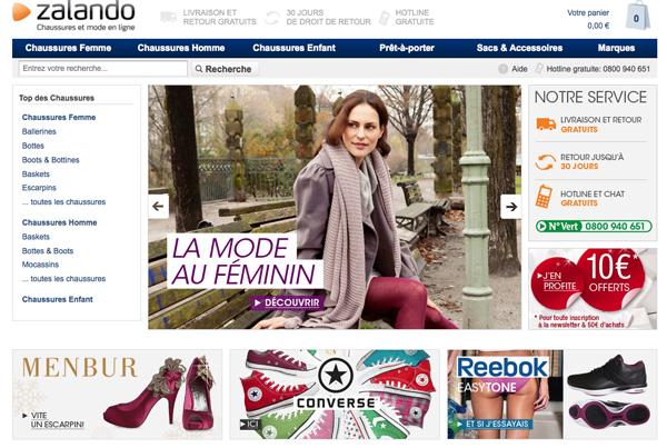 Zalando - boutique de chaussures en ligne