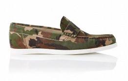 COMME des GARÇONS SHIRT Camo Print Leather Loafer Plimsolls