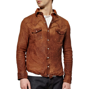 Jean Shop Leather Cowboy Shirt