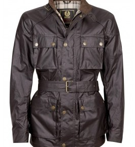 Belstaff - Darkest Brown Waxed Cotton Roadmaster Jacket