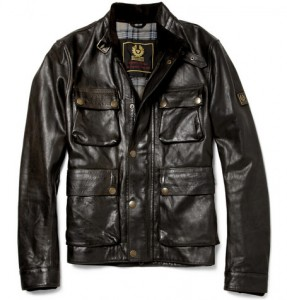 Belstaff Brad Distressed Leather Jacket
