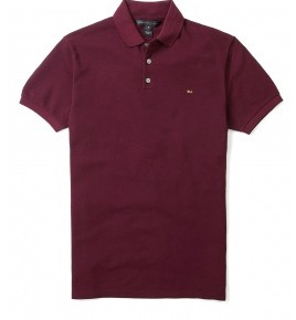 Marc by Marc Jacobs Burgundy Gold Mj Logo Polo-1