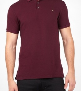 Marc by Marc Jacobs Burgundy Gold Mj Logo Polo-3