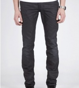 Nudie Jeans Thin Finn Black Coated Indigo Skinny Jeans-1