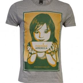 Obey - T-shirt FEEDING AMERICA Gris