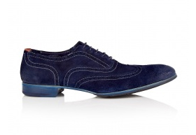 Paul Smith Shoes Navy Dip Dyed Suede Miller Brogues-2