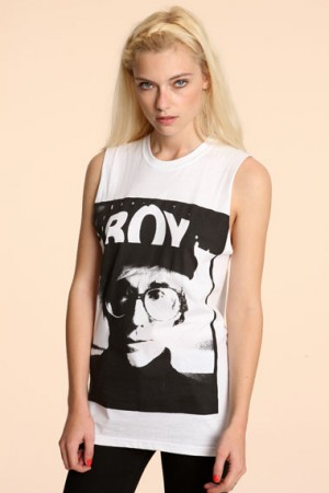 Boy London - T-shirt imprimé photo Andy Warhol