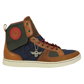 Creative Recreation - Sneakers bleu marine et marron Solano