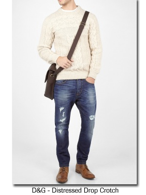 D&G - Distressed Drop Crotch