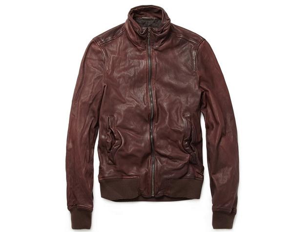 Dolce & Gabbana - Worn Leather Bomber Jacket