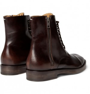 Maison Martin Margiela - Leather Lace-Up Boots