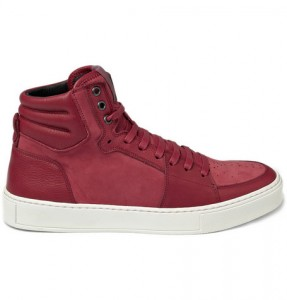 Yves Saint Laurent Suede and Leather High Top Sneaker