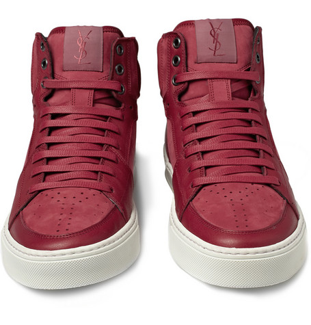cd51eed1fc Yves Saint Laurent – Suede and Leather High Top Sneaker