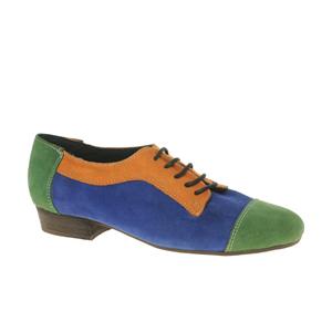 ASOS - MIND - Chaussures plates en daim avec lacets et blocs de couleur