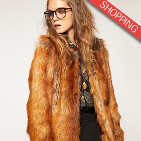 ASOS - Manteau en fausse fourrure de renard