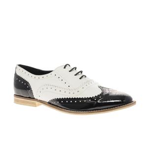 ASOS - Marky - Chaussures richelieu à lacets en cuir noir et blanc