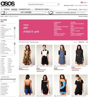 Soldes ASOS hiver 2011 mode femme