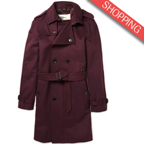 Burberry London Classic Wool-Blend Trench Coat