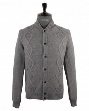 Paul and Joe Cardigan Gris En Grosse Maille Trevis