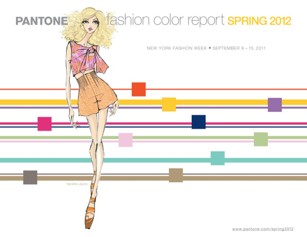 PANTONE couleurs printemps 2012