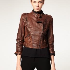 Vero Moda Very - Veste en cuir coupe large