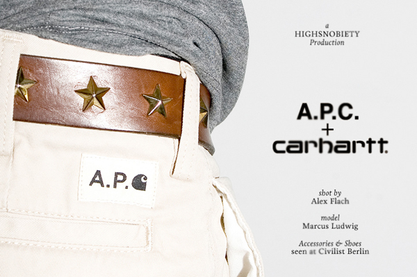 A.P.C x Carhartt - collection capsule