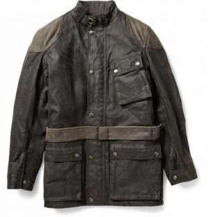 Belstaff Blaster Distressed Waxed Cotton-Blend Jacket