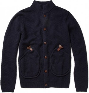 Folk Bobby Textured Wool-Blend Cardigan