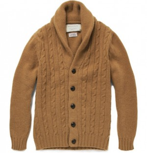 Kitsuné Cable Knit Shawl Collar Cardigan