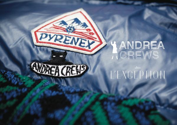 Andrea Crews x Pyrenex chez L'Exception