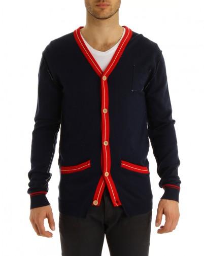 MENLOOK - Junk de luxe - cardigan bleu marine