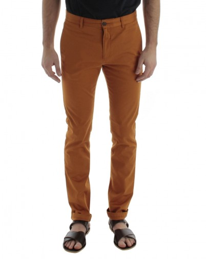 MENLOOK - Acne - pantalon chino rouille