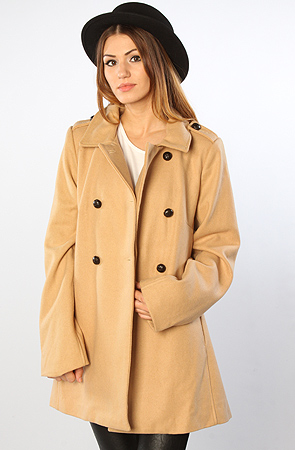 Lifetime Collective - The Patterson Wool Blend Peacoat