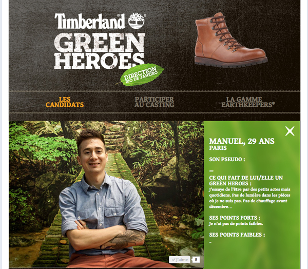timberland green heroes