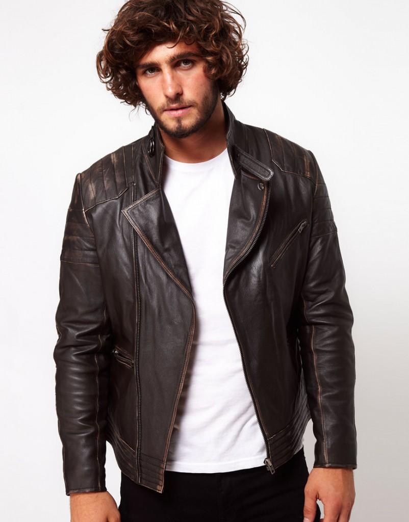 ASOS - Veste motard en cuir