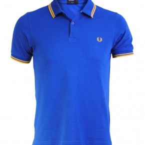 Fred Perry - Polo Slimfit bleu regal