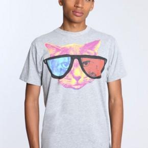 Glamour Kills - T-shirt imprimé chat en 3D