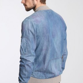 Paul Smith - Veste de baseball en jean délavé