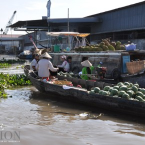 Marché flottant - delta du Mékong