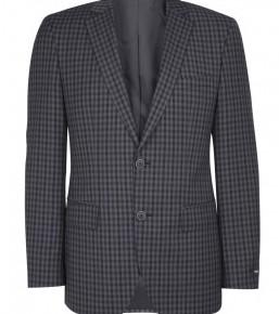 Hugo Boss Black Charcoal Navy Gingham Wool Blazer-3