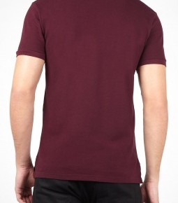 Marc by Marc Jacobs Burgundy Gold Mj Logo Polo-2