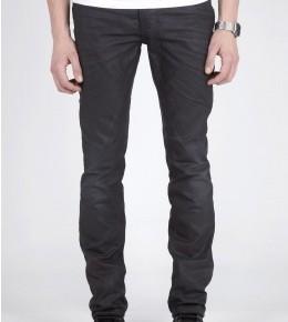 Nudie Jeans Thin Finn Black Coated Indigo Skinny Jeans-1