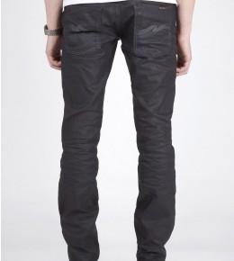 Nudie Jeans Thin Finn Black Coated Indigo Skinny Jeans-2