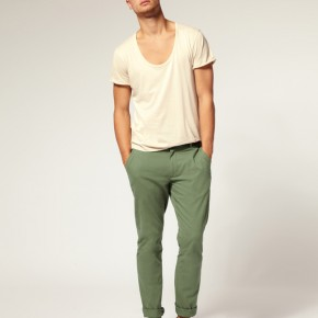 ASOS - Pantalon chino slim vert