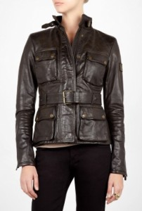 Belstaff Triumph Leather Belted Jacket