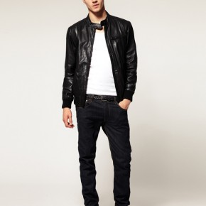 Selected - Alex - Veste en cuir