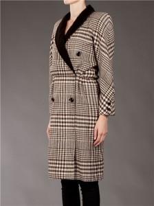 VALENTINO VINTAGE - Manteau à carreaux